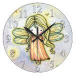 Reloj de hadas de los chicas de la pequeña luciérn