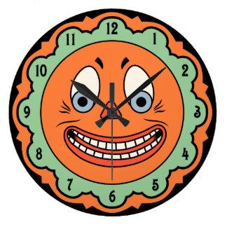 Reloj de Halloween del alemán del diseño del vinta