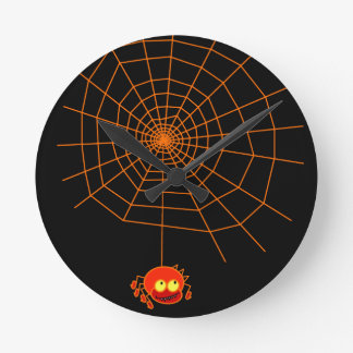 Reloj de Halloween del Web de araña