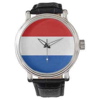 Reloj de Holanda - la bandera holandesa