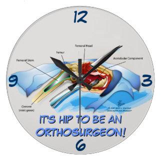 Reloj de Infographic del reemplazo de la cadera (v
