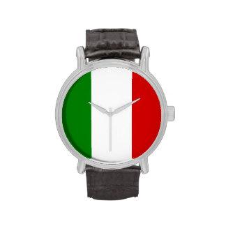 Reloj de Italia - la bandera de Italia
