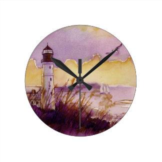 reloj de la acuarela del ligthouse