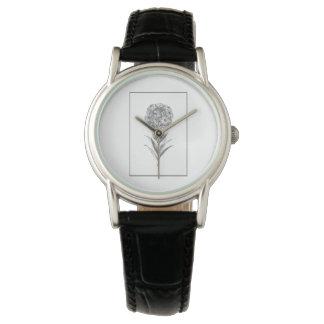 Reloj de la aguafuerte de la flor de pared del
