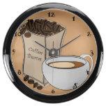 Reloj de la aguamarina de la taza de café de los g relojes aquavista