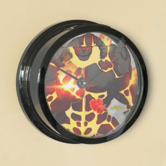 Reloj de la aguamarina del alquitrán reloj pecera