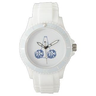 Reloj de la animadora de los azules marinos