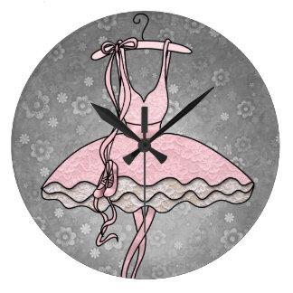 """""""Reloj de la bailarina de Prima"""" Reloj Redondo Grande"""