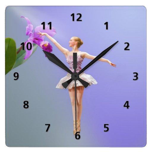 Reloj de la bailarina y de la orquídea