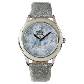Reloj de la banda del brillo de la plata del