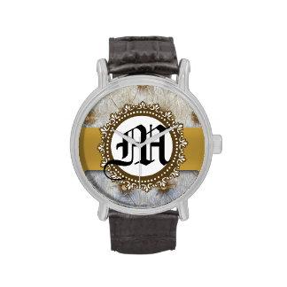 Reloj de la banda del cuero del pliegue del Pin de