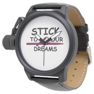 Reloj de la banda del músico del batería del