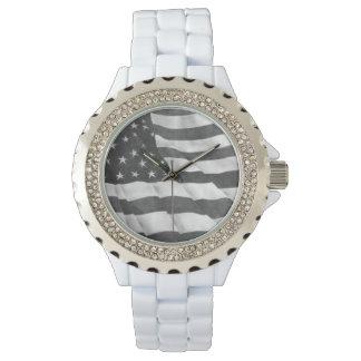Reloj de la bandera americana