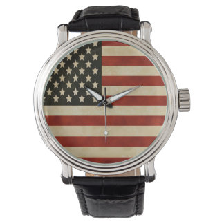 Reloj de la bandera americana del vintage