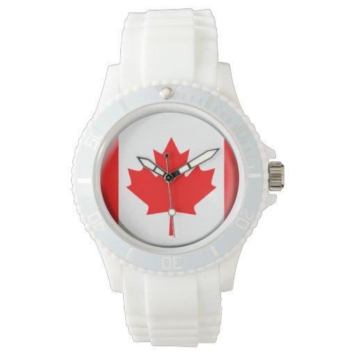 Reloj de la bandera de Canadá