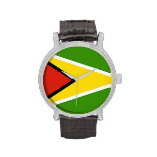 Reloj de la bandera de Guyana