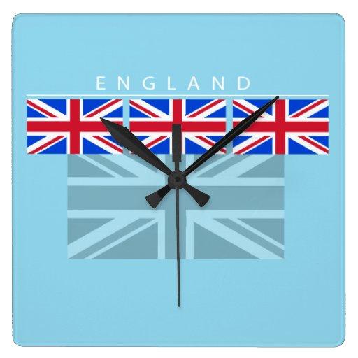 Reloj de la bandera de Inglaterra