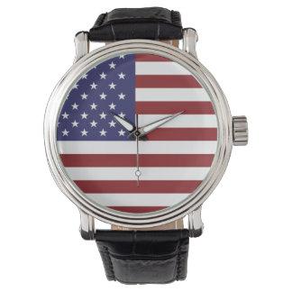 Reloj de la bandera de los E.E.U.U.