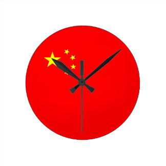 reloj de la bandera de país de China