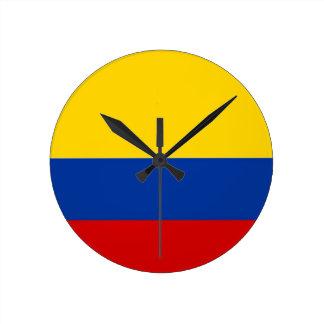 reloj de la bandera de país de Colombia