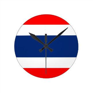 reloj de la bandera de país de Tailandia