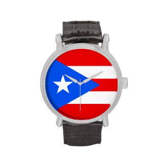 Reloj de la bandera de Puerto Rico