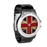 Reloj de la bandera de Reino Unido del vintage