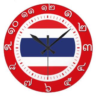 Reloj de la bandera de Tailandia (número en