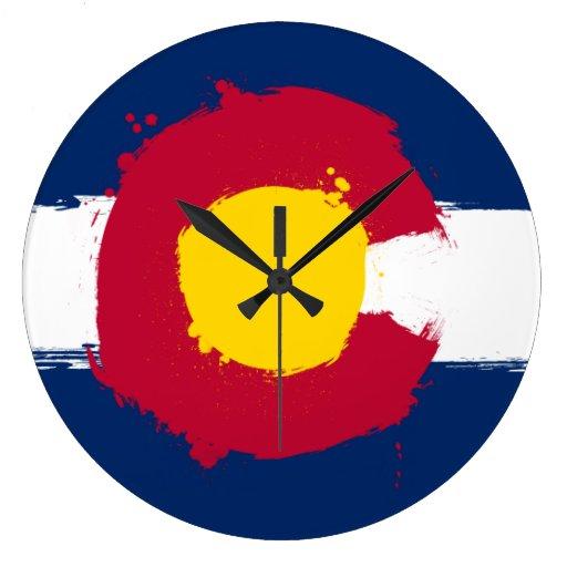 Reloj de la bandera del Grunge de Colorado