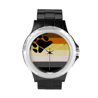 Reloj de la bandera del orgullo del oso