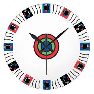 Reloj de la blanco de Deco