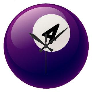 Reloj de la bola de billar del número 4