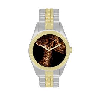 Reloj de la C-espina dorsal de Brown/del oro