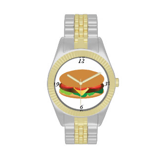 Reloj de la cara de la hamburguesa