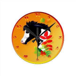 Reloj de la cara de la pintura del otoño