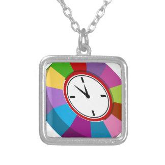 Reloj de la carta de negocio del codificado por colgante cuadrado