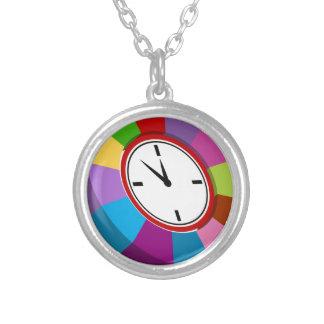 Reloj de la carta de negocio del codificado por colgante redondo