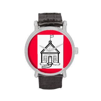 Reloj de la casa de la escuela