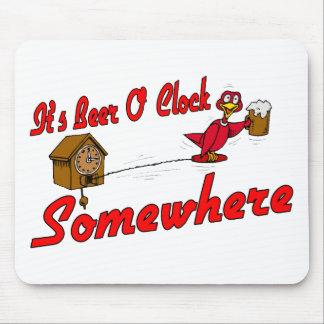 Reloj de la cerveza O Tapete De Raton