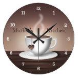Reloj de la cocina de Latte del café