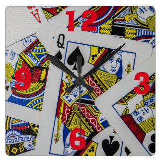 Reloj de la cocina de los juegos de tarjeta