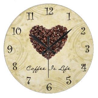 Reloj de la cocina del café