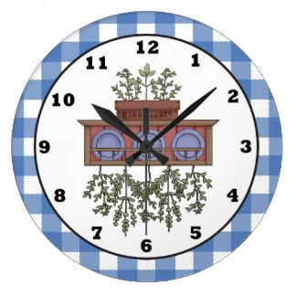 Reloj de la cocina del dibujo animado de la especi