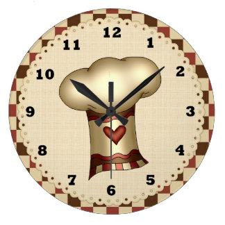 Reloj de la cocina del gorra del cocinero