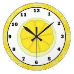 Reloj de la cocina del limón