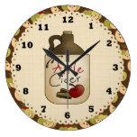 Reloj de la cocina del país de la sidra de Apple