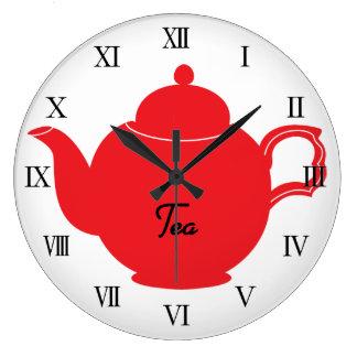 Reloj de la cocina del tiempo del té