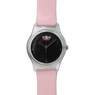 Reloj de la corona del rosa del estilo de Srta.