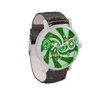 Reloj de la correa de cuero del vintage de la