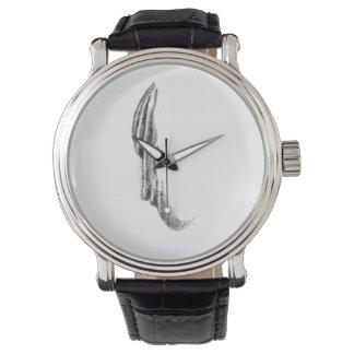 Reloj de la correa de cuero del vintage de la CARA